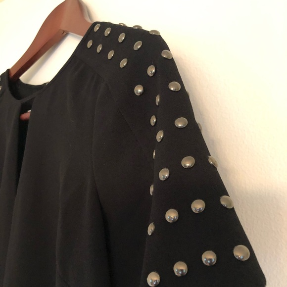 Halogen Tops - Halogen, Small, Studded Sleeve Blouse